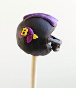 ravens helmet cakepop